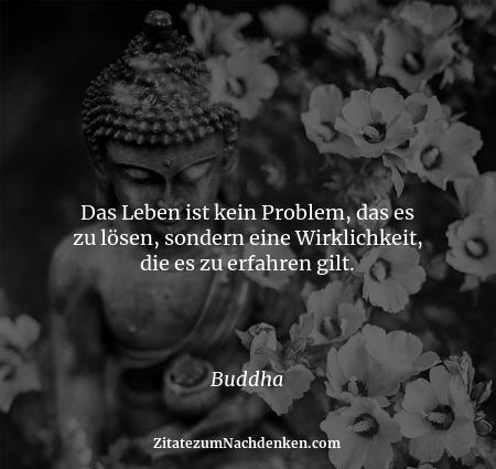 Das Leben ist kein Problem, das es zu lösen, sondern eine Wirklichkeit, die es zu erfahren gilt. - Buddha