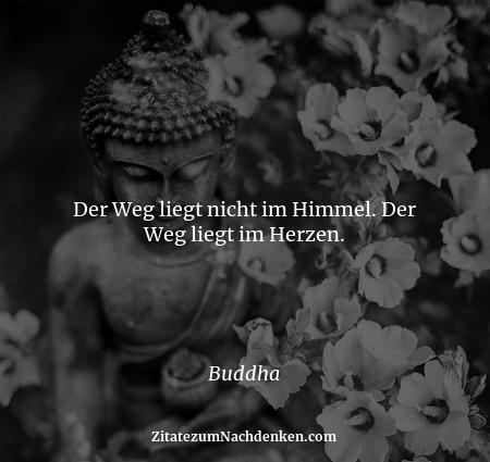 Der Weg liegt nicht im Himmel. Der Weg liegt im Herzen. - Buddha