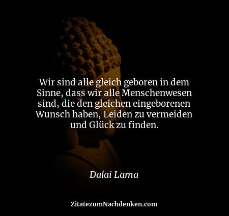 Wir sind alle gleich geboren in dem Sinne, dass wir alle Menschenwesen sind, die den gleichen eingeborenen Wunsch haben, L...
