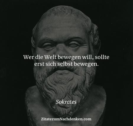 Wer die Welt bewegen will, sollte erst sich selbst bewegen. - Sokrates